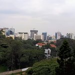 view downtown from my balcony at the Panafric