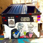 Immortalized on a garbage container.....? Sure! Why not! Glad you boys are in town!