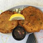 Incredible Conch Fritters with Pine Island Sauce