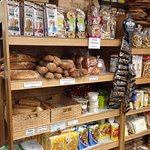Freshly-baked breads and other items
