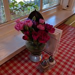 Fresh flowers on the tables