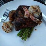 Steak and roasted potatoes.