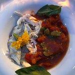 Tableside filet of sea bass