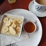 Banana with Oats and honey