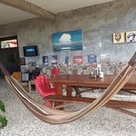 Hammock in the dining area.