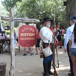 The entrance to the Living History Encampment