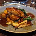 Roasted corn-fed chicken