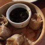 Steamed shrimp and crabmeat dumplings
