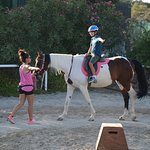 Our son's first horseback riding lesson
