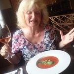 What a joy to taste the gazpacho á la Grandezza plus the rosé