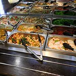 Lots of salads and side dishes at the all-you-can-eat buffet.