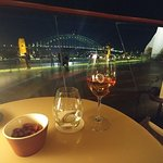 the bay bridge seen from the bar