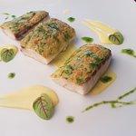 Sea bass with saffron cream
