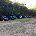 Waiting for our clients - Transfer with several Mini Vans and Mini coach