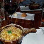 French Onion Soup and Red Wine