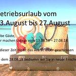 Betriebsurlaub im August