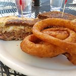 patty melt and onion rings