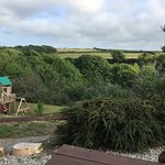 The garden with kids play area and stunning views