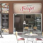 Outside picture of our falafel store!
