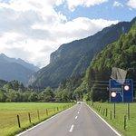 Ruta de ingreso a lauterbrunnen