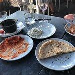 Tzatziki and flatbread