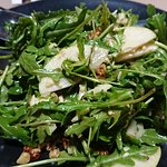 rocket, pear, walnut and Parmesan side salad