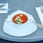Tomaten Schaumsuppe mit Croutons