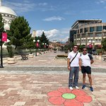 In Shkoder, Albania with our driver Stefan