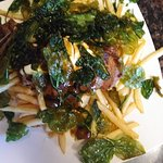 fried spinach on the steak & fries was very tasty