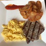 Steak & eggs. Very, very delicious! Would highly recommend!