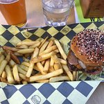 Elk Burger, and Truffle Fries