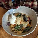 Potato gnocchi and poached egg