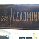 The board outside the entrance showing the Name - Leadmine