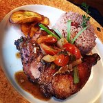 Our  delicious jerk chicken plate.