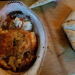 Saganaki made with haloumi cheese--quite good