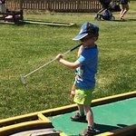Mini golf was a hit!