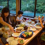 The quality of the locally produced food served at Ashitanomori is fantastic