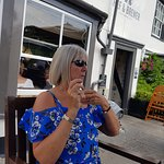my gorgeous wife and a lovely lunch along with a bottle of shampers mmm