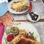 Enchiladas øverst og maistortilla nederst