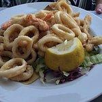Frittura mista di calamari e gamberi