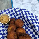 Hushpuppies + Sorghum Butter