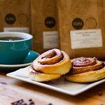 Taste our cinnamon rolls.