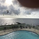 Kiteboarding, pool, sound View from Balcony