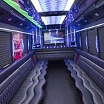 Luxury Party Bus White Beast Interior