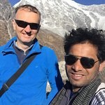 Madan and myself on a side-trip in the Langtang Valley