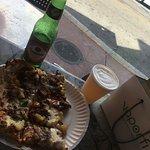 Presidente beer + pizza bbq