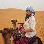 Camel riding on the Sahara