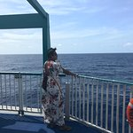 Gazing out from the deck of Baleària Caribbean.
