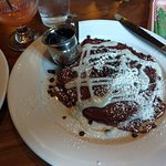 red velvet pancakes. So sweet you didn't need the syrup