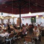 Portofino restaurant courtyard was quiet and relaxing!